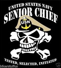 US NAVY SENIOR CHIEF TESTED SELECTED BUMPER STICKER TOOLBOX STICKER