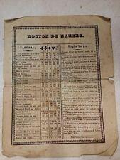 Rare Règle du Jeu Boston de Nantes  - vers 1800