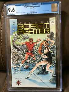 Magnus Robot Fighter #1 CGC 9.6 White pages with Trading Card
