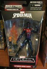 Marvel Legends Spider-man 2099 figure with hobgoblin arm and fire sword baf