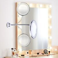 10x Magnifying LED Lighted Makeup Mirror Grossissant Magnifying miroir Makeup 36