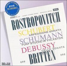 Schubert: Arpeggione Sonata / Schumann: Funf Stucke im Volkston / Debussy: Cello