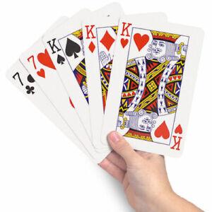 Jumbo Giant Playing Cards Deck Jumbo Outdoor Magic Big Party Game Cards