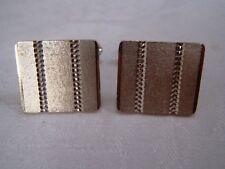 Hallmarked 1981 Sterling Silver 925 - 10.36 grams modernist cufflinks