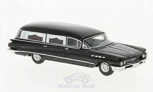 HO 1:87 BOS 87371 - 1960 Buick Flxible Premier Hearse - Black