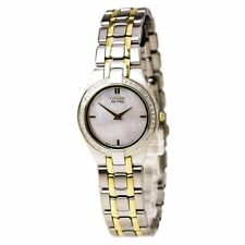 Citizen Eco-Drive Women's Diamond Accents Bracelet 26mm Watch EG3154-51D