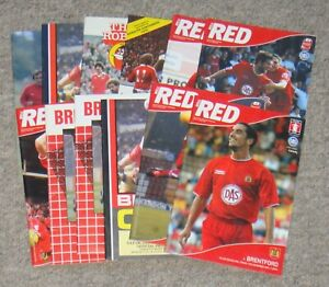 12 Bristol City Home Football Programmes – 1980-2004 – All Listed
