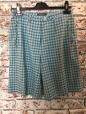 Lyle & Scott Blue Check Golf Shorts. Size 10UK. Ex Condition