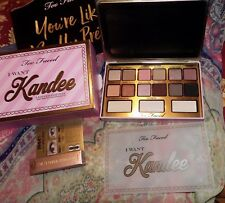 TOO FACED I WANT KANDEE CANDY EYESHADOW PALETTE, Bag and sample Mascara, New!