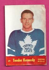1955-56 PARKHURST LEAFS TED KENNEDY  GLUE CARD (INV# C1023)