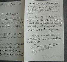 Tancrède de Visan. Signature Lettre sur Stéphane Mallarmé. 1912.