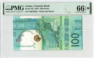 Aruba 100 Florin Gulden 2019 Antilles Pick 24a PMG Gem Uncirculated 66 EPQ STAR