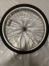 26 x 1.95 front aluminum wheel with tire and tube.