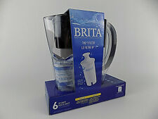New Brita 6 Cup Space Saver BPA Free Water Pitcher + 1 Filter Best #1 Filter