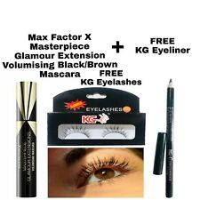 MAXFACTOR MASTERPIECE GLAMOUR EXTENSION BLACK/BROWN MASCARA & EYELINER EYELASHES