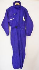 OBERMEYER Womens Vintage Snowsuit Ski Full body one piece Size 10 Purple  Neon