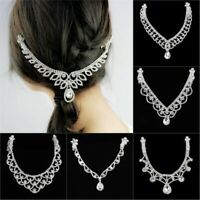 Women Fashion Metal Rhinestone Head Chain Jewelry Headband Hair Band 13 Styles