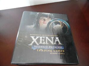 NEW XENA WARRIOR PRINCESS TRADING CARDS SEASON 4 & 5 BINDER
