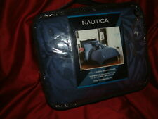 NAUTICA  AVONDALE BLUE QUEEN  DUVET COVER  SET  BEDSKIRT  SHAMS