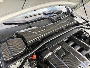Carbon Fiber Microfilter Upper Cowl Cover For 2007-2013 BMW E92 325i 328i 330i