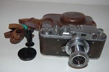 Zorki 1 TIPO C VINTAGE 1953 Fotocamera telemetro sovietica di esportazione con custodia. (125953)
