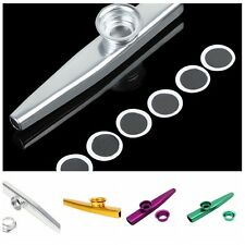 Stylish Metal Kazoo Harmonica Mouth Flute Kids Party Gift Musical InstrumentHUUS