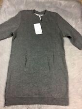 NWT Fabletics Gray Womens Elena Zipper Sweatshirt Dress Sz Small