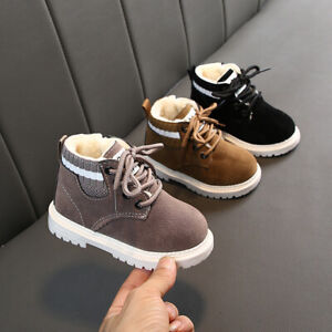 New Kids Warm Shoes Baby Boys Girls Martin Boots Toddler Size 5-11 Winter