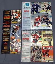 Fleer NFL Hockey '96 & Fleer Metal '95 + Skybox Impact '95-96 Promo Card Sheets