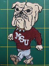 "Mississippi State Bulldogs MSU 3.5"" Walking Bulldog Mascot Logo Patch College"