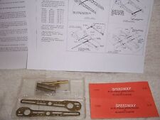 1/24 VINTAGE SPEEDWAY BRASS SIDEWINDER SLOT CAR CHASSIS KIT FOR WILSON MOTOR-MIB