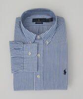 NEW Ralph Lauren LS Classic Fit Blue Striped Stretch Shirt Sz L XL 2XL NWT $90