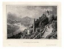 ALTENA an der Lenne, Gesamtansicht. Originaler Stahlstich um 1870