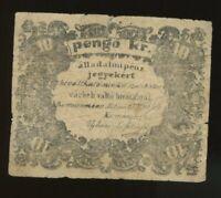 Hungary 10 pengõ krajczár 1849 Komárom