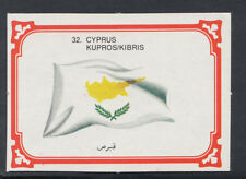Monty Gum 1980 Flags Cards - Card No 32 - Cyprus  (T631)