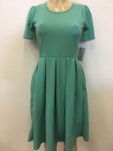 LULAROE WOMENS AMELIA DRESS MINT GREEN new  VIBRANT