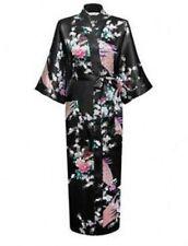 Promotional Bride Long Women Kimono Robe satin silk Night dressing Gown