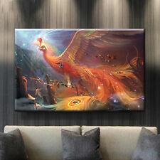 5D 68*45cm Fire Phoenix DIY Diamond Painting Rhinestone Cross Stitch Home Decor~