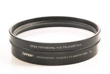 "Ex+ Original TIFFEN 4.5"" PL Filter Made in America w/ 114SSLR Adapter"