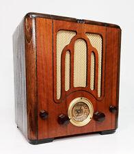 Old Antique Wood Crosley Vintage Tube Radio - Restored & Working Mini Tombstone