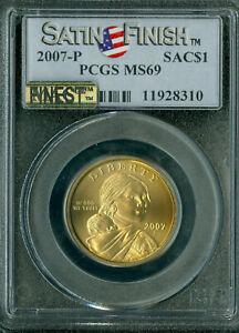 2007-P SATIN FINISH SACAGAWEA DOLLAR PCGS MS-69 SP-69 MAAC FINEST & SPOTLESS *