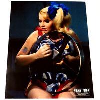 "*DEBORAH DOWNEY* Blonde Singer Girl STAR TREK COLOR PHOTOGRAPH 8x10 TOS - ""Eden"""