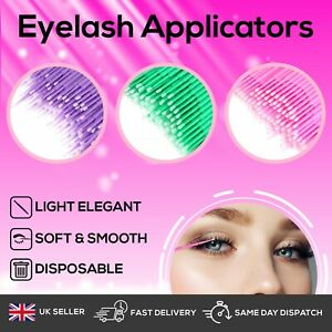 Disposable Eyelash Extension Micro Brush Applicator Make up Mascara Swab UK