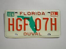 AUTHENTIC 1993 FLORIDA LICENSE PLATE