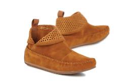 Emu Ghostgum Suede Moccasin Ankle Boots Hazelnut Size UK 3 EU 36 New & Boxed