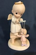 Precious Moments The Good Lord Will Always Uphold Us #325325  SamB Puppet Angel