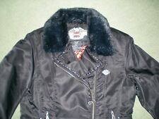 BNWOT GENUINE HARLEY DAVIDSON LADIES STUDDED BIKER JACKET SMALL