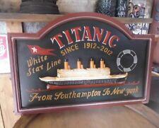 Irish Pub Bar Tableau mural Titanic décoration Board NAVIRE MARITIME Maison NEUF
