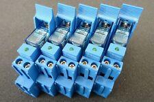 5x FINDER 40.31S Steck-/Print-Relais 40.31.9.024.0000 24V DC 10A 1W Modul Sockel