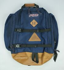 Vintage Jansport Leather Bottom Day Pack Backpack • Made in USA • EXCELLENT EUC